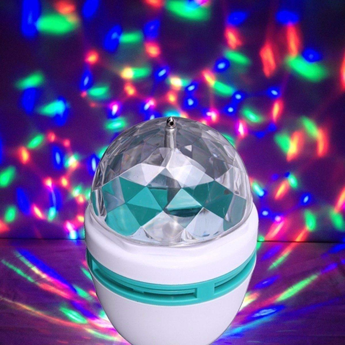 Foco giratorio de luces de colores a0042 dirtsac - Focos led con luces de colores ...